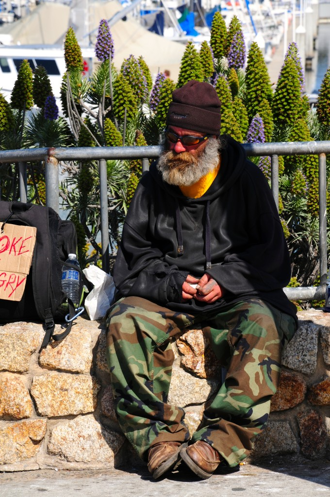 Obdachloser in Monterey - Homeless in Monterey